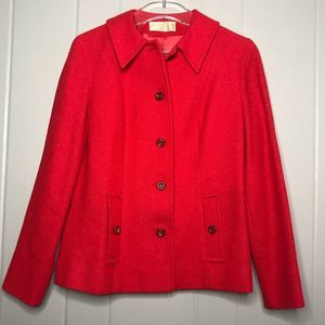 VTG Pendleton Red Wool Button Up Blazer Jacket